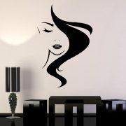 Szép női arc, falmatrica a Dekormatricák webáruházban 48 színben