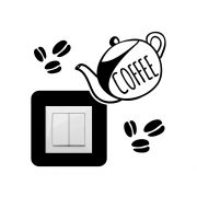 Kávéskanna,villanykapcsoló matrica