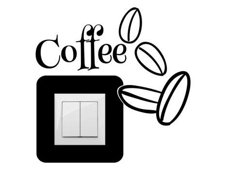 Kávészemek,villanykapcsoló matrica