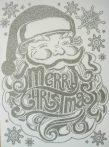 Mikulás, ezüst csillámos karácsonyi ablakmatrica a Dekormatricák webáruházban
