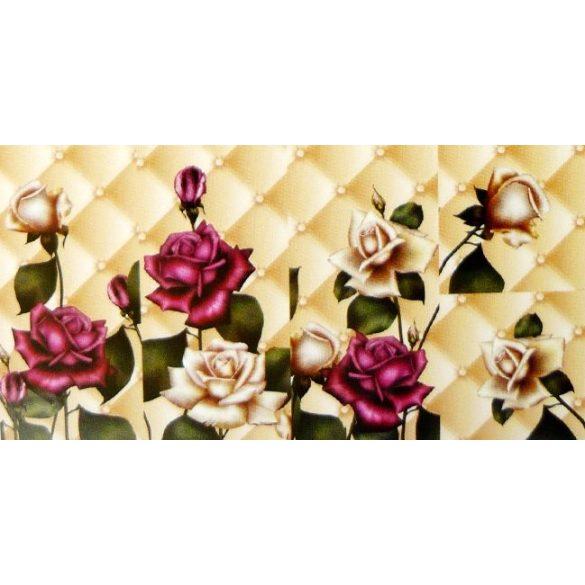 Rózsák, 5 részes, 3D falmatricaszett