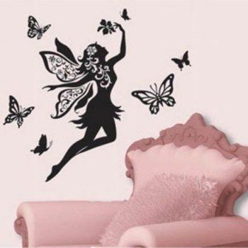 Tündér pillangókkal, falmatrica