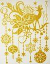 Karácsony, arany csillámos karácsonyi ablakmatrica