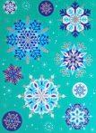 Hópelyhek(2), csillámos karácsonyi ablakmatrica a Dekormatricák webáruházban