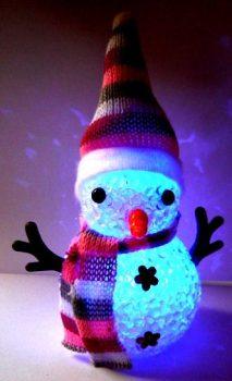 Hóemberke, led dekorlámpa a Dekormatricák webáruház karácsonyi dekorációi közül