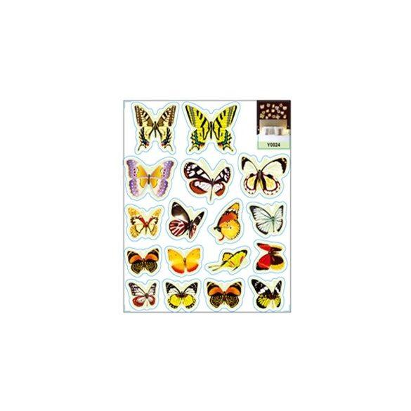 Pillangók, éjjel világító falmatrica