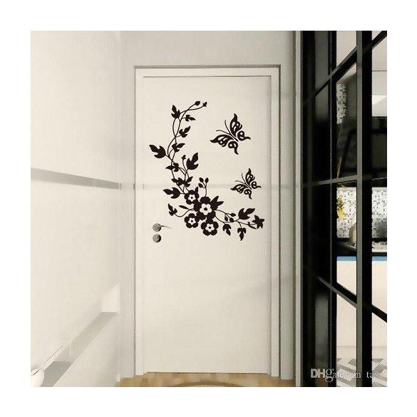 Virág pillangókkal, ajtómatrica