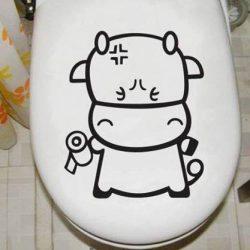 Kistehenes toalett díszítő matrica