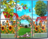 Virágos kapu, csempematrica