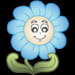 Apró kék virágos öntapadó tapéta