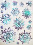 Hópelyhek(4), csillámos karácsonyi ablakmatrica a Dekormatricák webáruházban