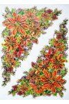 Mikulás virág, csillámos karácsonyi ablakmatrica