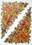 Mikulás virág, csillámos karácsonyi ablakmatrica a Dekormatricák webáruházban