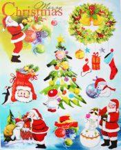 Christmas, csillámos karácsonyi ablakmatrica a Dekormatricák webáruházban