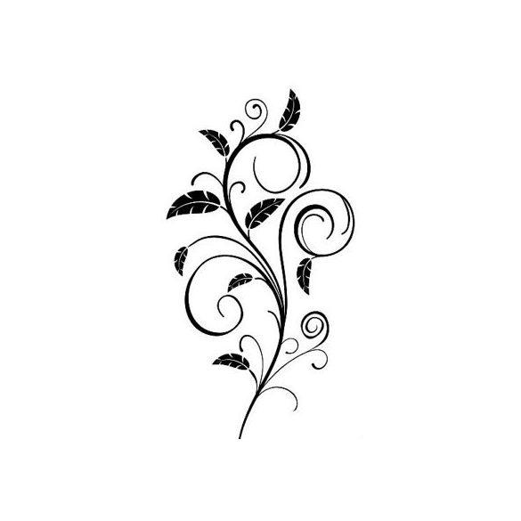 Nonfiguratív virág, ajtómatrica