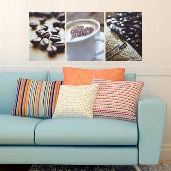 Kávé, 3 részes falikép, falmatrica szett