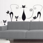 Cicacsalád, cicás falmatrica a Dekormatricák falmatrica webáruházban