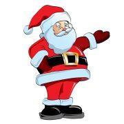Színes télapó, karácsonyi matrica kirakatra vagy ablakra a Dekormatricák webáruhánál