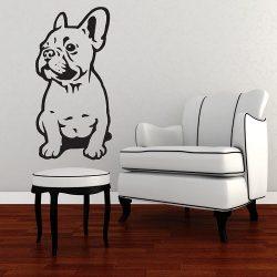 Bulldog, kutyás falmatrica a Dekormatricák webáruház kínálatában