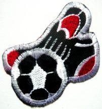 Foci cipővel, vasalható ruhamatrica