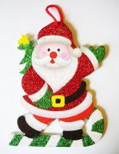 Bolondos Télapó, karácsonyi ajtódekor