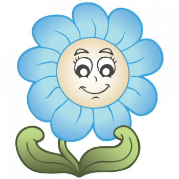 Sötétkék nonfiguratív virág