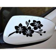 Orchidea autómatrica visszapillantóra a Dekormatricák webáruház autómatricái közül
