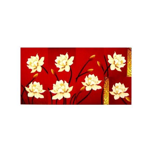 Virágok, 5 részes, 3D falmatricaszett