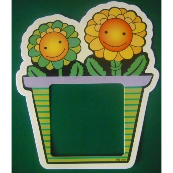 Mosolygó virágok, csillámos villanykapcsoló matrica