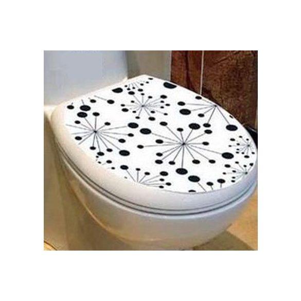 Pitypangok, csillámos toalett díszítő matrica