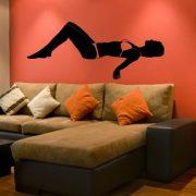 Napozás, falmatrica nappaliba a Dekormatricák webáruház falmatricái közül