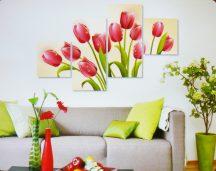 Tulipánok, 4 részes, 3D falmatricaszett