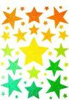 Csillagok, csillámos ablakmatrica