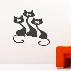 Macsekok, cicás falmatrica a Dekormatricák webáruházban