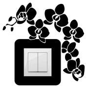 Virágok,villanykapcsoló matrica