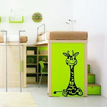 Bébi zsiráf gyerekszoba falmatrica több méretben, 48 szinben, kiegészítőkkel: dekormatricak.hu