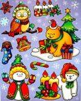 Karácsonykor, színes, csillámos ablakmatrica a Dekormatricák webáruházban