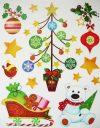 Jegesmackó, csillámos karácsonyi ablakmatrica