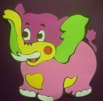 Elefánt, polifoam mesefigura