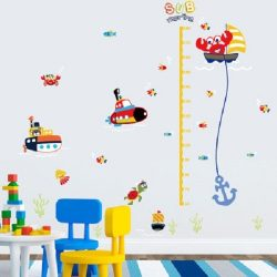 Tengeralattjárók, magasságmérő gyerekszoba dekor a Dekormatricák falmatricái közül