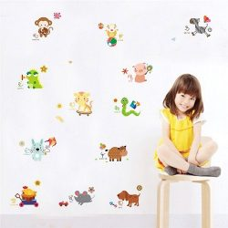 12 jópofa kisállat vár rád ezen a gyerekszoba falmatricán. Dekorálj velünk: dekormatricak.hu