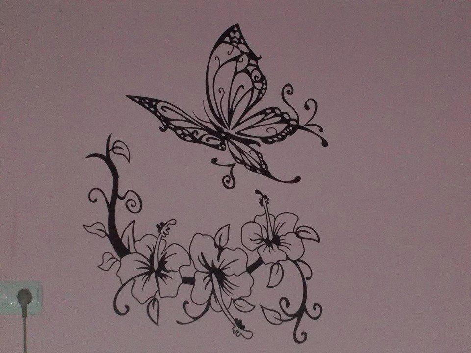 Hibiszkusz pillangóval - kicsit másképp :)