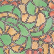 REIMS zöld-sárga ólomüveg öntapadós üvegfólia