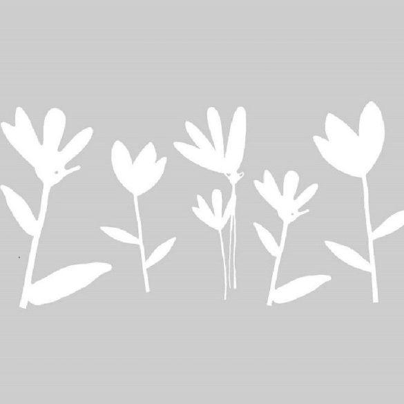MAXIMA fehér mintás sztatikus üvegfólia