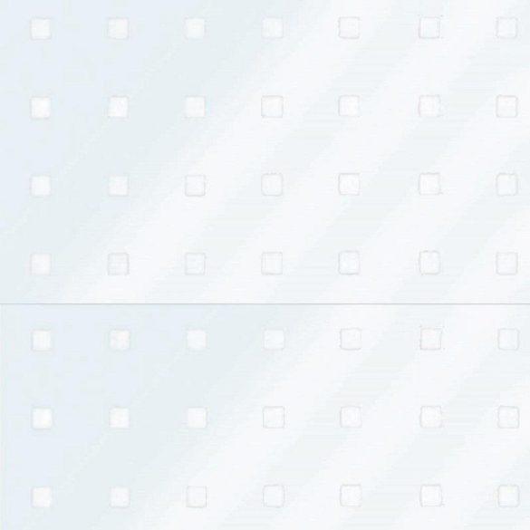 BLOCK fehér mintás sztatikus üvegfólia