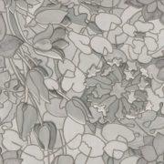 Szürke tulipánok mintás sztatikus üvegfólia