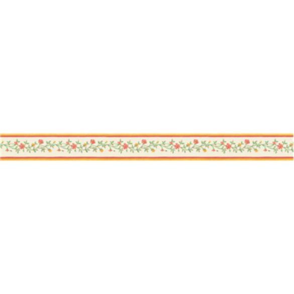 Rózsaszín leveles inda mintás öntapadós bordűr