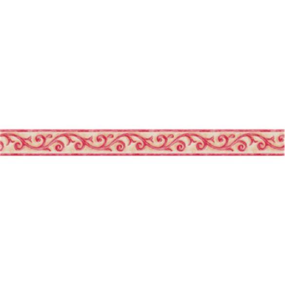 Piros indás mintás öntapadós bordűr