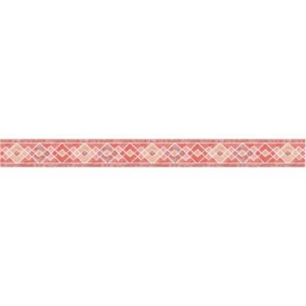 Hagyományos piros rombusz mintás öntapadós bordűr