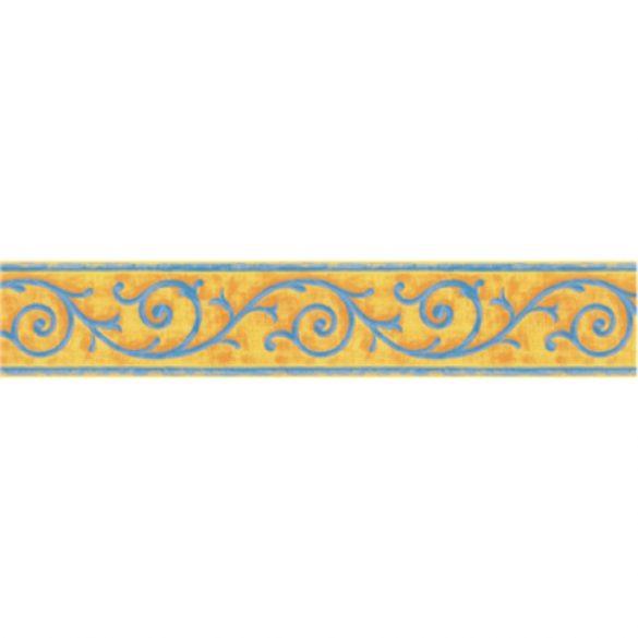 Kék indás mintás öntapadós bordűr